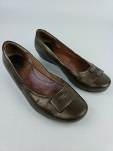 Clarks Artisan 31358 Metallic Bronze Concert Choir Wedge Flats Women's U... - $23.36