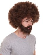 80's Painterly Afro Wig and Beard Set HM-1277 - $29.85