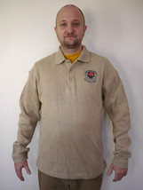 North End SOLDIERS FIRST 100% COTTON Collared SWEATER Long Sleeve SHIRT M - $13.99