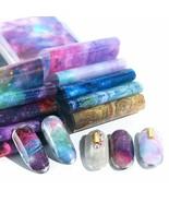 Charm Nail Transfer Foil Paper Starry Nail Art Sticker UV Gel Wraps DIY - $4.88