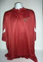 Majestic Arizona Cardinals 5XL Men's Red Polo Shirt C-14 - $14.50