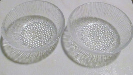 Vintage (2) Anchor Hocking Sereno Style Heavy Large Glass Serving Fruit ... - $19.99