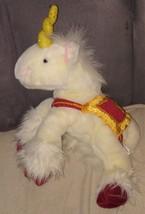 """Commonwealth WHITE UNICORN Plush w/Red & Gold Saddle 15"""" Long - $22.96"""