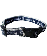 MLB NY Yankees Adjustable Nylon Dog Collar (Med... - $10.25