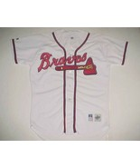 Atlanta Braves MLB NL Russell Athletic Diamond Collection White 90s Jers... - $69.29