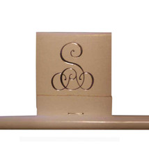 50 Mono Matches Matchbook Printed with 72 Point Monogram Letter - Metalic Gold - $14.95