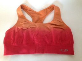Champion Peach Orange Ombre Racer Back Double Layer Sport Bra Top S - $10.70