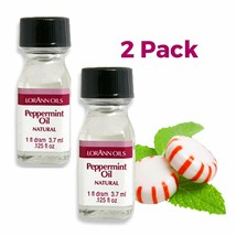 LorAnn Super Strength Peppermint Oil, Natural Flavor, 1 dram bottle - 2 Pack - $7.86