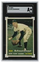 Red Schoendienst New York Giants 1957 Topps #153 Baseball Card SGC A - $164.33