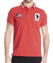 NEW US POLO ASSN MEN'S PREMIUM SLIM FIT SPORT COTTON POLO SHIRT T-SHIRT RDHT