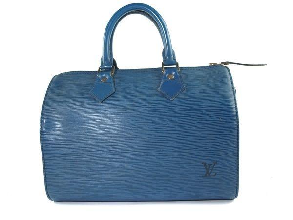 052d61e06535 S l1600. S l1600. Previous. Authentic LOUIS VUITTON SPEEDY 25 Blue Epi  Leather Hand Bag LH4516L. Authentic LOUIS VUITTON SPEEDY ...