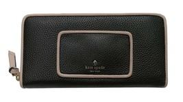 NWT Kate Spade Neda black pebbled leather ziparound Wallet + 25% off nex... - $123.51