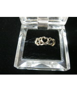 HEARTS Vintage RING in Sterling Silver - Open Work - Size 8 1/4 - FREE S... - $23.00