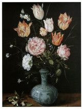 "16x20""Poster on Canvas.Home Room Interior design.Flower bouquet vase.6466 - $46.75"