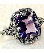 Vintage style Natural 3.5Ct Tanzanite 925 Silver Ring Women Wedding Enga... - $28.33