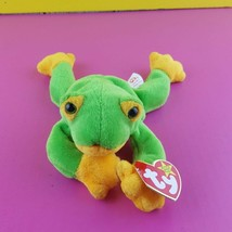 Ty Beanie Baby Smoochy Frog 1997 Bean Bag Plush With Tags - $7.92