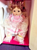 Marie Osmond Porcelain JESSICA TINY TOT collectible doll COA Necklace & ... - $28.01