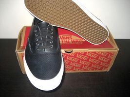 11 Mens Black Authentic Decon Boat Vans Leather Shoes Snake Blanc Skate Size 5 yPEcZ4Z
