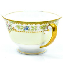 Meito China Blue Yellow & Pink Flower Gold Accent Teacup Tea Cup image 2