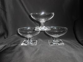 Heisey New Era Low Sherbet Glasses Set of 3 Vintage 1935-1952 - $19.00