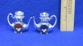 Miniature Salt & Pepper Shakers Teapot Shaped Minnesota Souvenir Sail Boats Pair image 2
