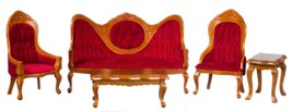 Dollhouse Miniature Victorian Living Room Set, 5 pc, #T6273 - $57.71