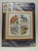 "Creative Accents Stamped Cross Stitch Kit 7927 14"" x 14"" ""All Seasons"" -... - $15.79"