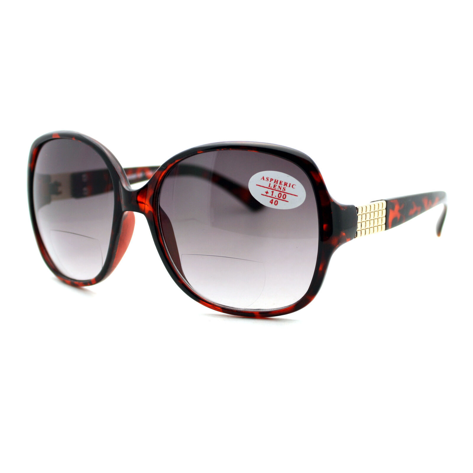 Womens Fashion Bifocal Lens Sunglasses Square Frame Aspheric Lens