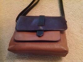 Genuine Fossil leather handbag - $80.00