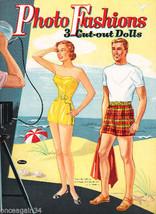 VINTAGE UNCUT 1953 PHOTO FASHIONS PAPER DOLLS~#1 REPRODUCTION~FABULOUS! ... - $18.99