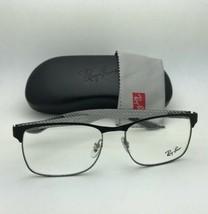 Nuovo Ray-ban Occhiali Tech RB 8416 2916 55-17 Nero & Gunmetal W/Carbonio Fibra