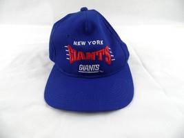 Vintage New York Giants Adjustable Cap Hat Blue Embroidered Spell Out Team NFL - $19.73
