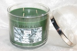 "SLATKIN & CO Holiday ""TREE"" 3-Wick Candle 14.5oz Bath & Body Works - $100.00"
