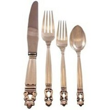 Acorn by Georg Jensen Sterling Silver Flatware Set For 12 Service 48 Pieces - $5,175.00