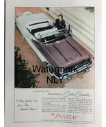 Pontiac Star Chief Custom Convertible Two Tone Car Print Ad - $9.97