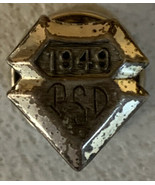 VTG Sterling Silver 1949 PSD or PDS initialed pin screw back - $18.69