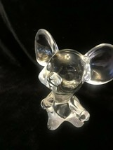 FENTON MOUSE FIGURINE Clear Glass - $29.02