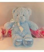 "Baby Gund My First Teddy  Blue Chenille Bear 9"" 021033 Soft Plush Toy Se... - $22.99"