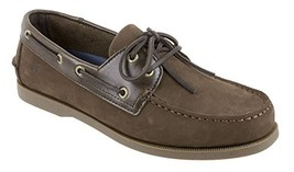 Rugged Shark Men's Classic Boat Shoes, Genuine Leather with Odor Control Technol