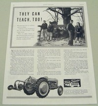 1941 Print Ad Ford Tractors with Ferguson System Farm Youth - $14.99