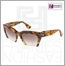 MIU MIU RASOIR 11O Square Sunglasses MAN-0A7 Caramel Marble Sunglasses MU11OS image 7