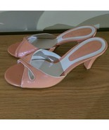 Gianni Bini Pinky Peach Slip On Heels Size 6.5M - $17.99