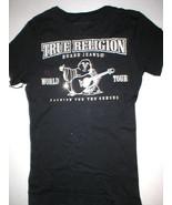 New Womens Designer True Religion Jean Black Soft Tee Shirt Top Logo XS ... - $172.00