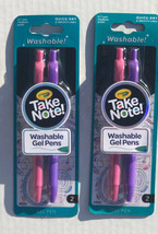 Crayola Take Note! Washable Gel Pens 4 Packs Of 2. .7mm Medium Point. Pu... - $8.41