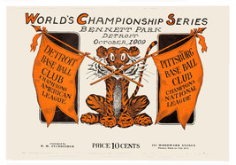 Detroit 1909 World Series Poster - FREE Shipping - $9.99