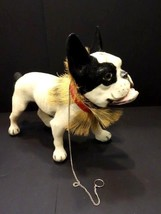 ALL ORIGINAL FRENCH BULLDOG WITH GROWLER PULL ALONG TOY 1960 - $2,995.00
