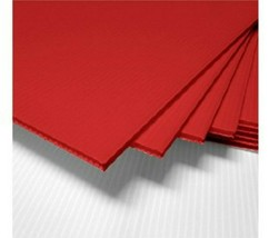 """4 Pack 4mm Red 24"""" x 48"""" Vertical Corrugated Plastic Coroplast Sheets Sign - $30.51"""