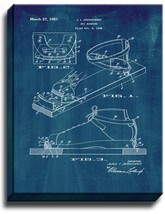 Ski Binding Patent Print Midnight Blue on Canvas - $39.95+
