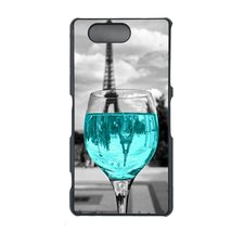 Coloful wine with Paris Sony Z1 Compact, Z1 mini case Customized premium... - $11.87
