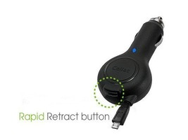 Cellet Retractable Micro USB Car Charger for Motorola H720, HX550, Elite... - $8.77